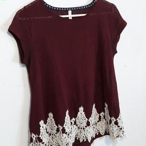 Target Maroon blouse